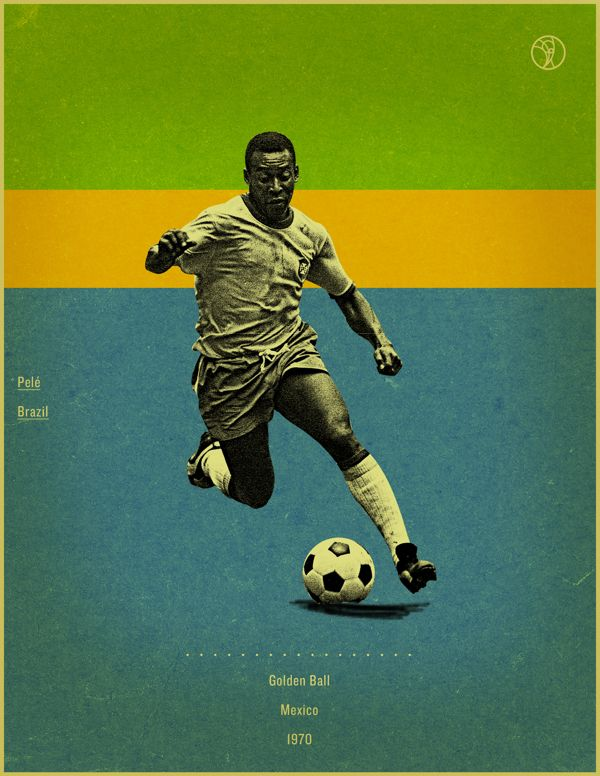 World Cup History Of The Golden Ball By Jon Rogers Via Behance Football Poster Soccer Poster Soccer Art