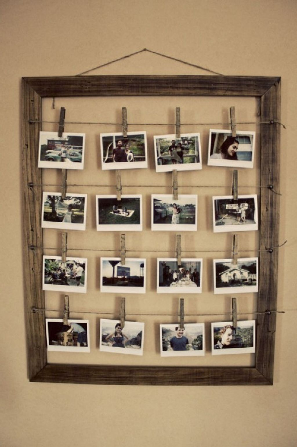 unique design for homemade floating frame ideas with rustic wooden for the main frame and using