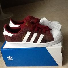 adidas superstar bordeaux rood