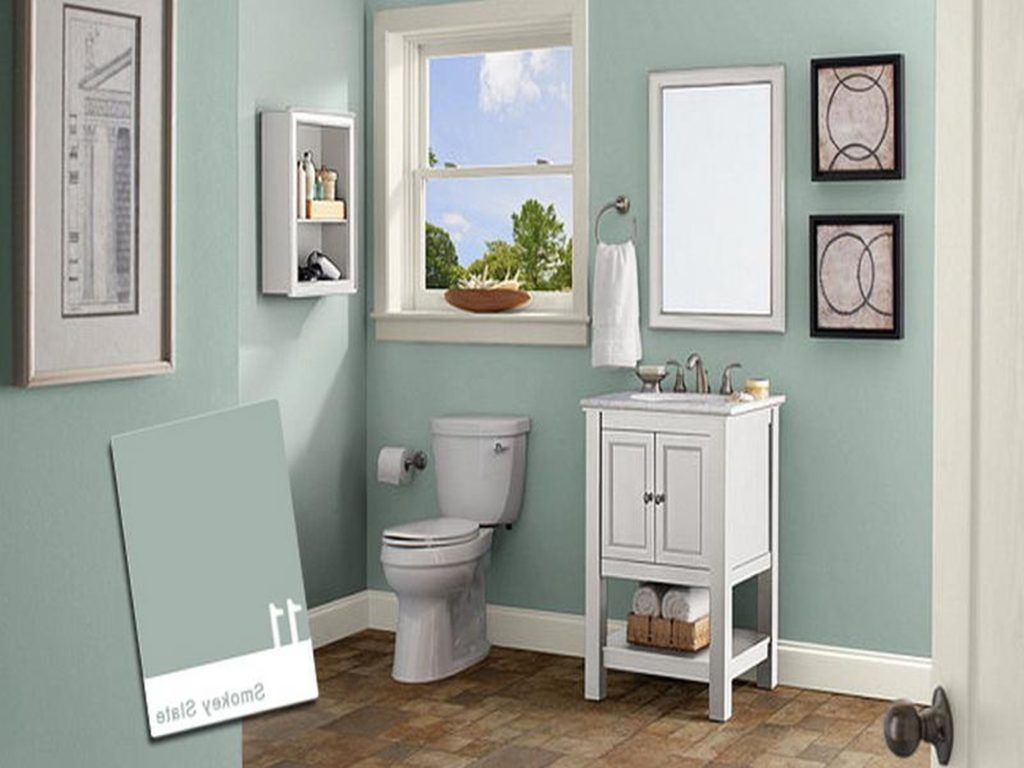 Small bathroom paint ideas gray - Toilet Small Bathroom Paint Color Ideas Pictures