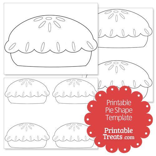 printable pie shape template from printabletreats com thanksgiving