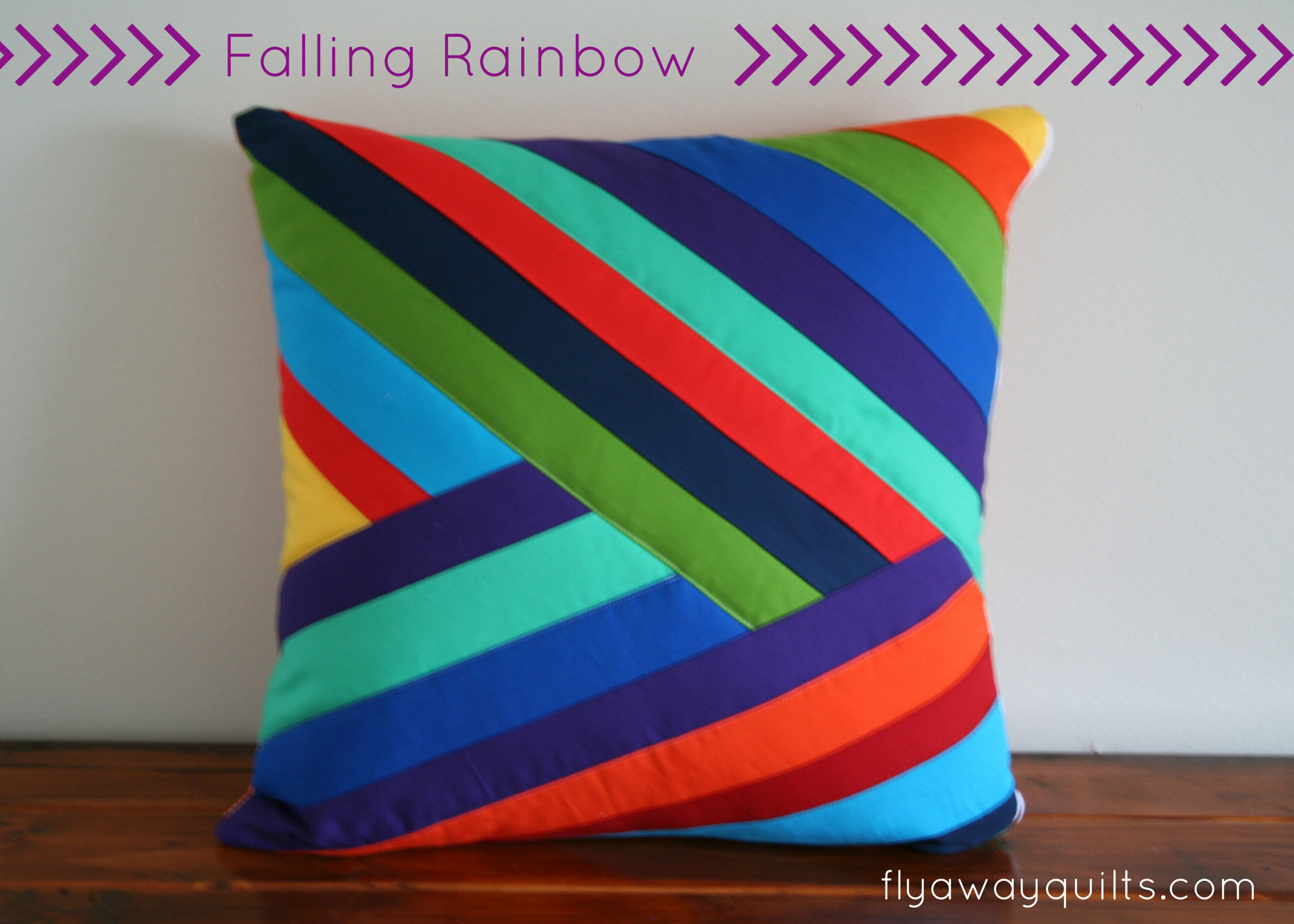 Falling Rainbow pillow cover tutorial made from long fabric strips. Maybe don\u0027t make & Falling Rainbow pillow cover tutorial made from long fabric strips ... pillowsntoast.com