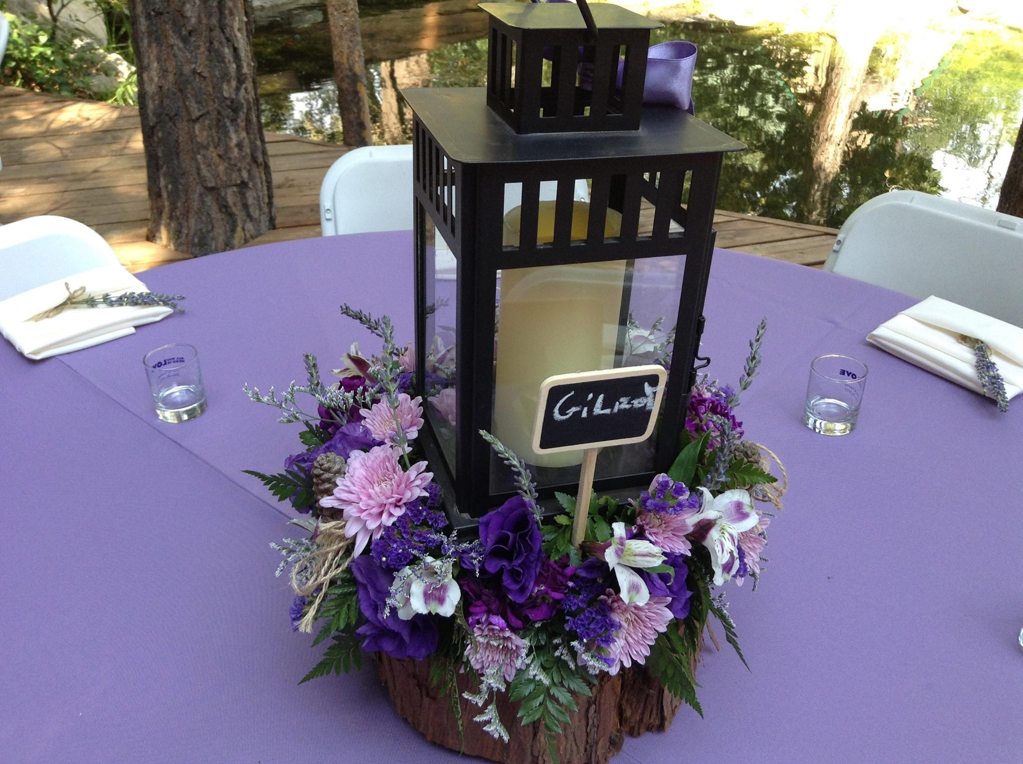 lantern centerpiece a marry mom Pinterest