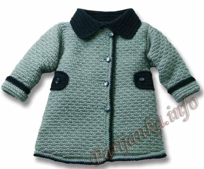 Chorrilho de ideias: Casaco inverno em crochet