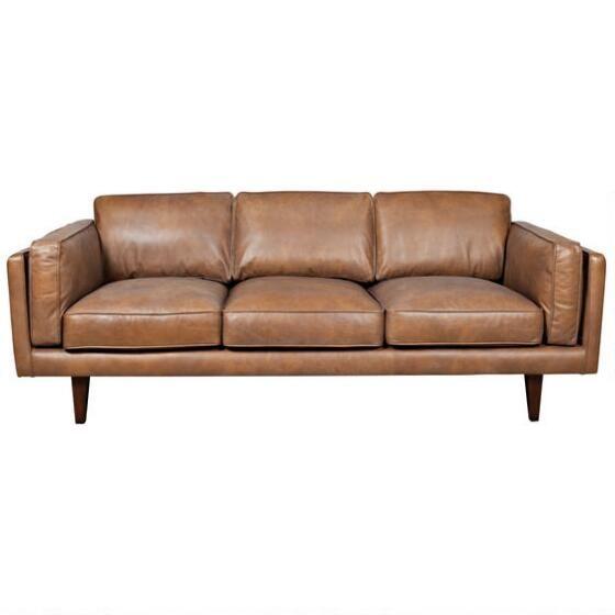 Diego Leather Sofa -Ox Tan On Sale and BEAUTIFUL | Sofas | Tan sofa ...