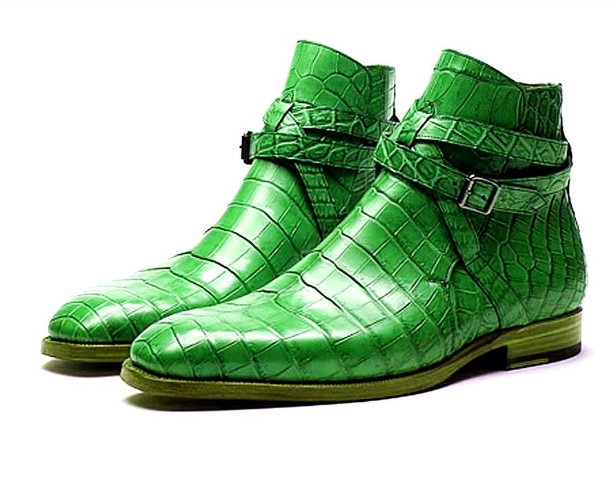 a7de9c72c1d1 Men s Handcrafted Genuine Alligator Leather Boots in 2019 ...