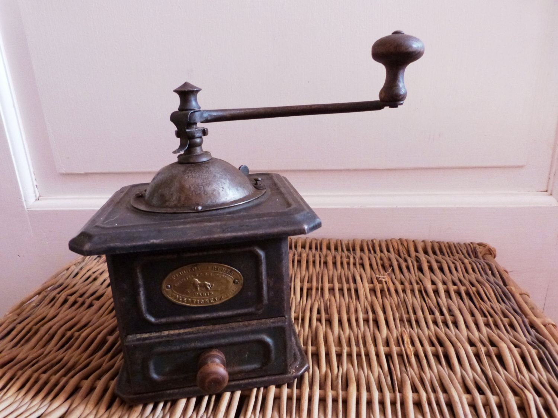 Vintage Copper Coffee Grinder Home Decor by RareRusticRelics  |Coffee Grinders Antique Label
