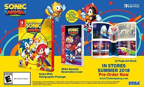 Amazon Com Sonic Mania Plus Nintendo Switch Video Games