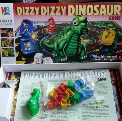 Vintage DIZZY DIZZY DINOSAUR Board Game 1987 MB Games Complete VGC in Toys & Games | eBay