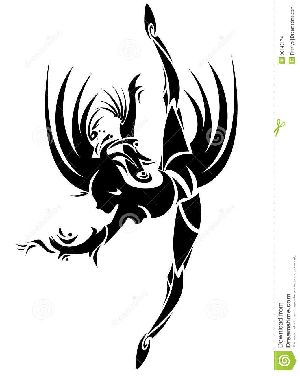 Dessin tribal simple galerie tatouage for Female silhouette tattoo