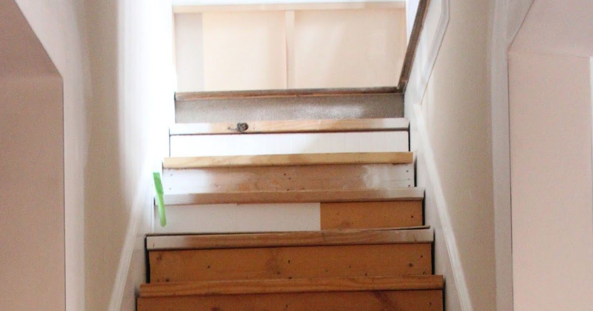 The stairs aren't completely finished yet but they sure did look better for company.   The problem with needing to paint stairs is trying to...