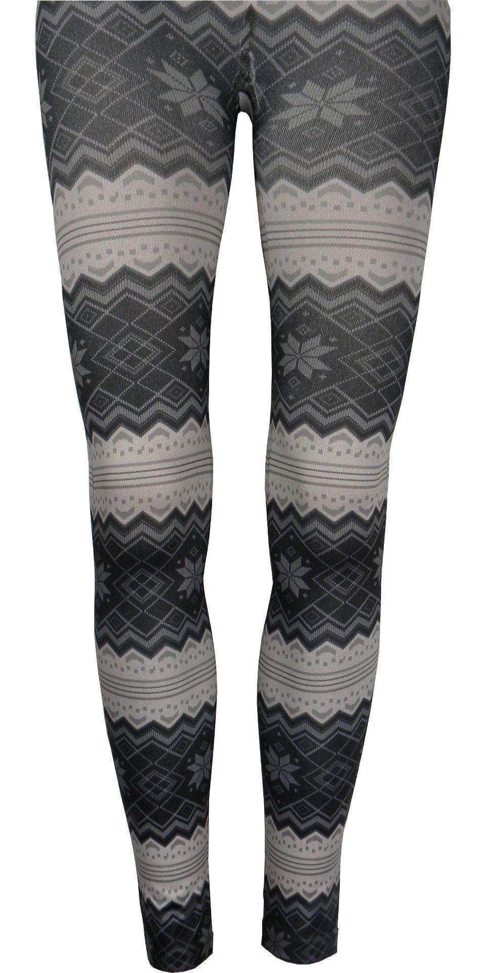 e89f84ea5 Nordic Print Fleece Lined Leggings in Ivory - Ivory / regular ...