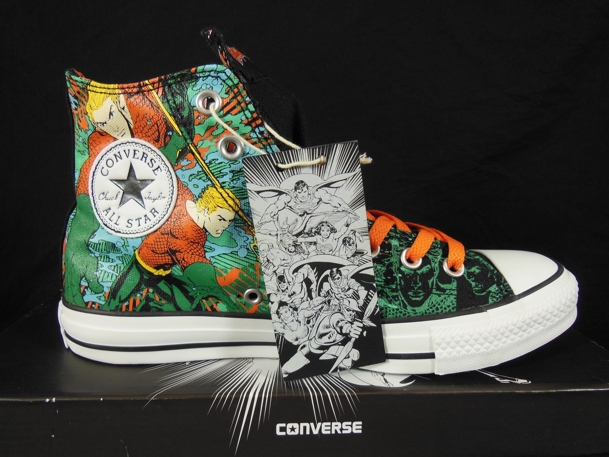 9de7162ae482 Converse Aquaman All Star Chuck Taylor DC Comics Kicks   Sneakers ...
