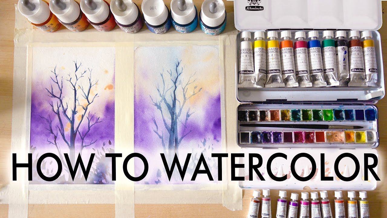 How To Watercolor Tutorial For Beginners Aquarell Aquarell