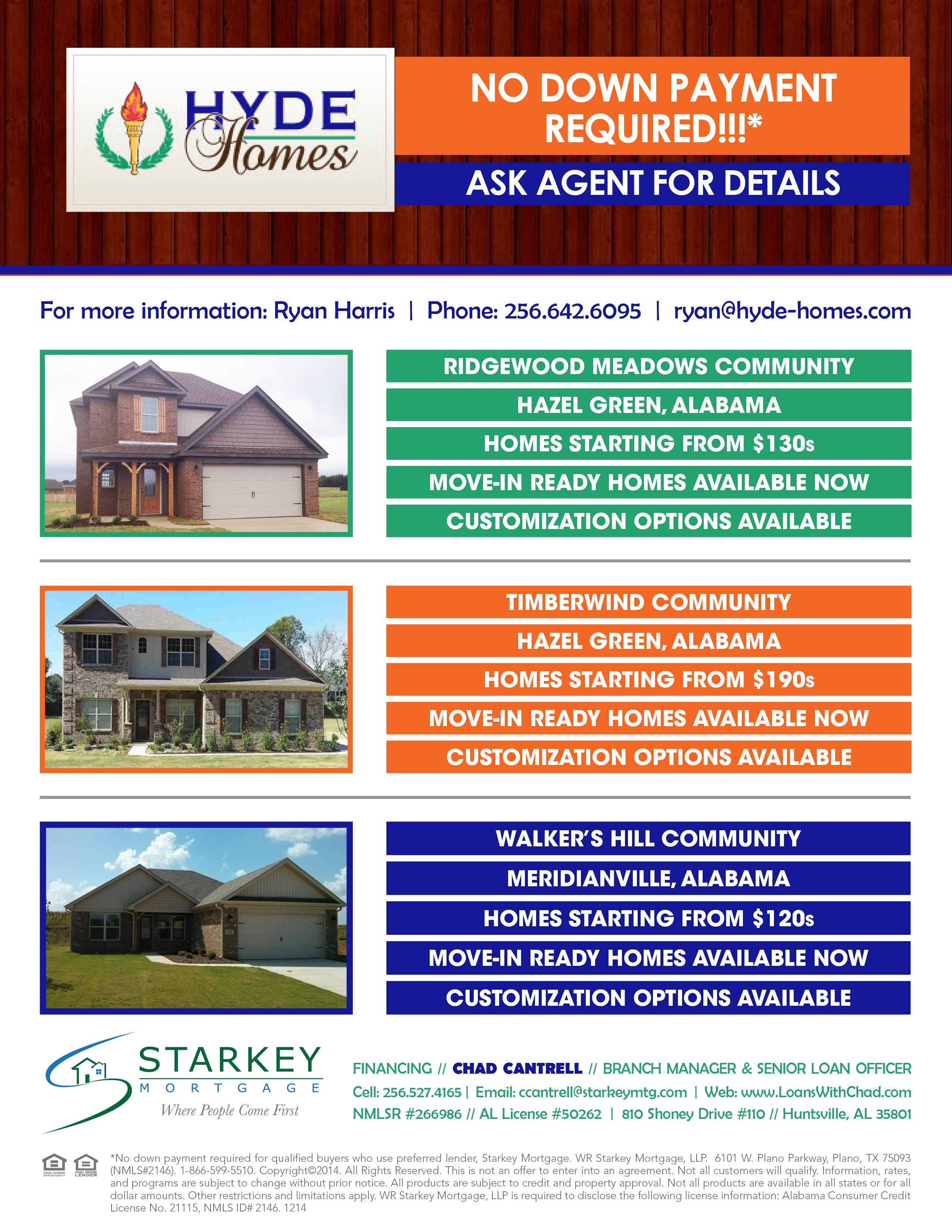 hyde homes real estate flyer design home purchase flyer graphic
