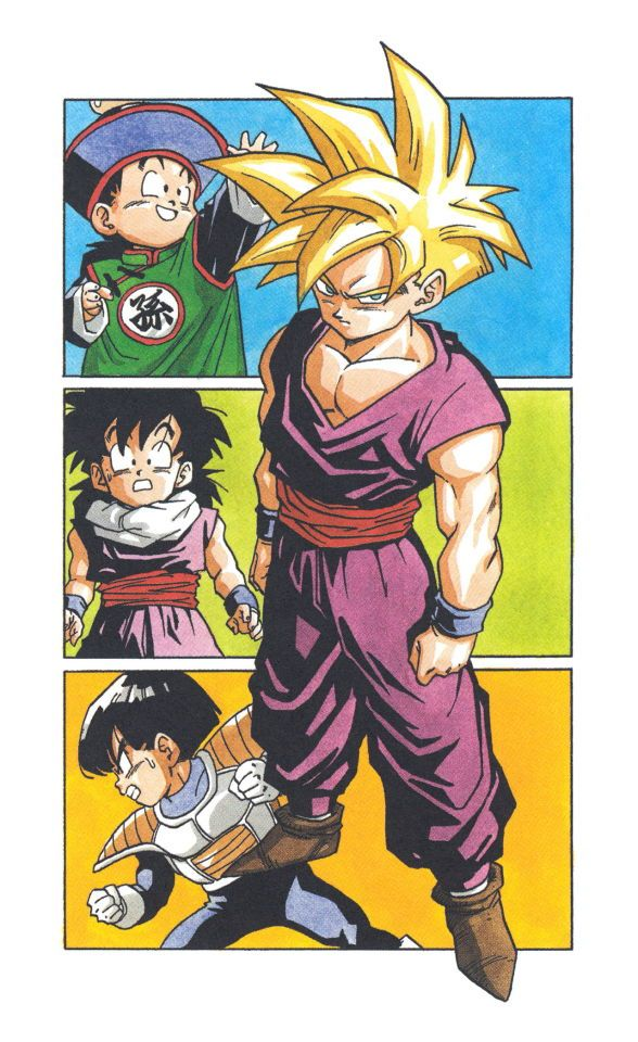 Scan from the Dragon Ball manga, Akira Toriyama.