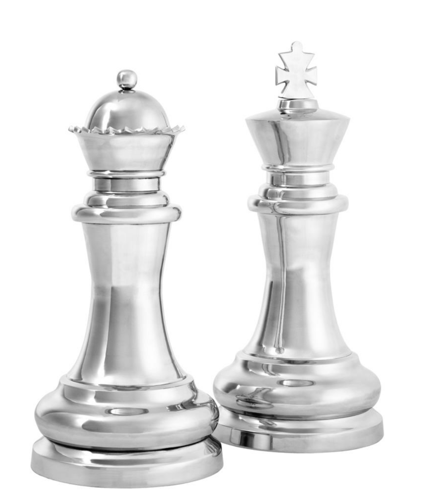 Large King And Queen Chess Sculptures The Tailored Home Chess King Chess Queen Chess King And Queen