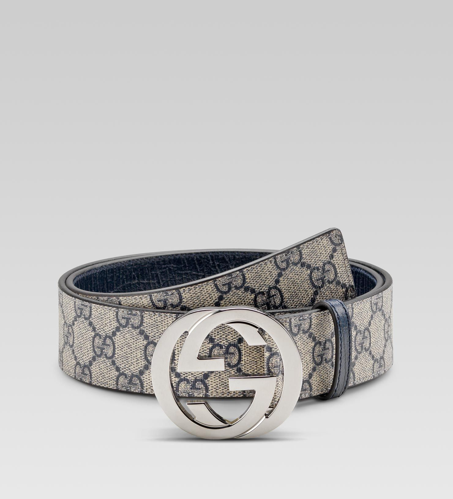 6f38a19e8bf GG Supreme belt with interlocking G