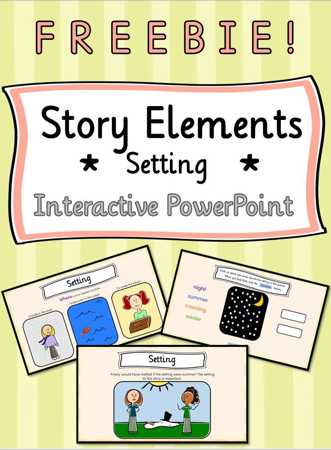 Story Elements Setting Interactive PowerPoint Mini Lesson