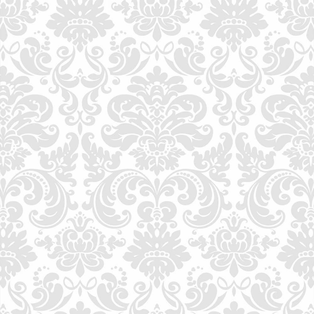 Papel de parede cl ssico em cores cinza e branco 007 - Papel para revestir paredes ...