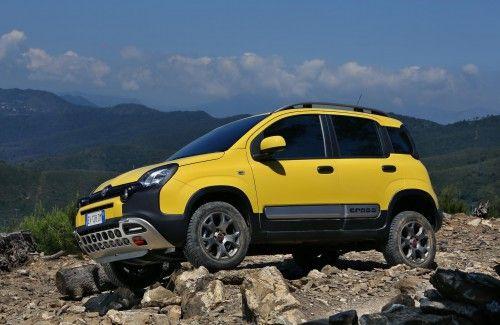 The Yellow Fiat Panda Cross For Car Wallpaper