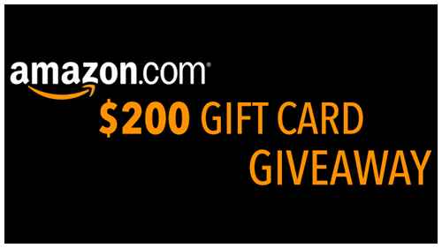 Win 200 Amazon Gift Card Multiple Winners Amazon Gift Card Free Amazon Gift Cards Gift Card Giveaway
