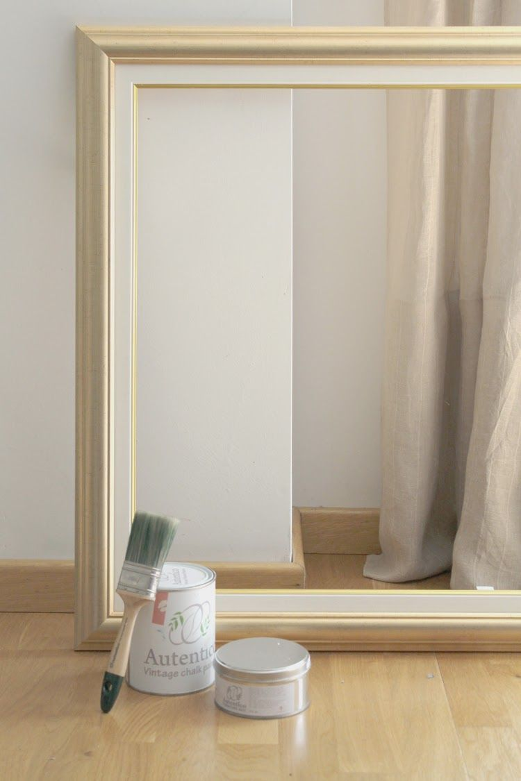 Pintando un marco con chalk paint pintar mueble blanco for Pintar marco espejo