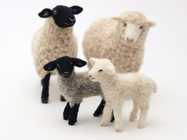 """Needle felted animals. VEGANIZE this, please! Art and creativity should NEVER support or condone animal cruelty and exploitation. Make sure your art/craft supplies aren't sourced from animals (such as """"wool"""" felt, mohair, angora or alpaca fur, silkworm thread, feathers, etc.) and that they reflect a true reverence for life. Always use animal-free alternatives. Be kind. Be fair. Be vegan."""
