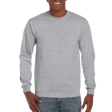 Gildan Mens Ultra Long Sleeve Rib-Knit Cuffs T-Shirt