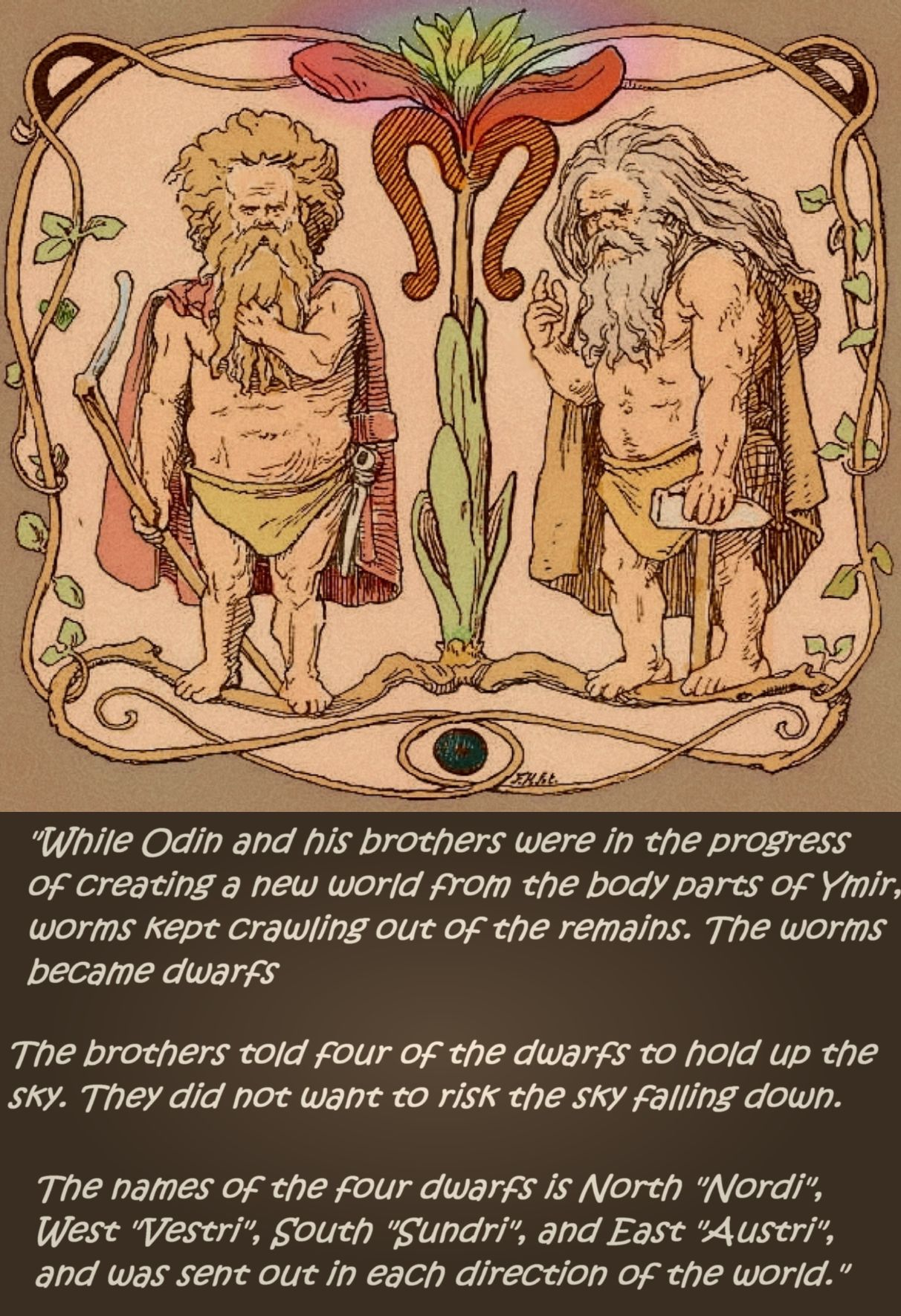Norse Mythology How The Worms Became Dwarfs Norse Mythology Mythology Norse