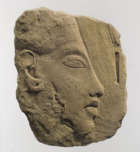 Sculptor's model of Akhenaten, New Kingdom, Dynasty 18, c. 1353 - 1336 BC http://www.metmuseum.org/toah/works-of-art/21.9.13