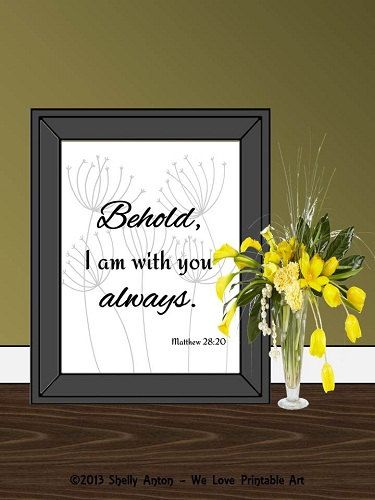 This printable bible verse features my original dandelion ...