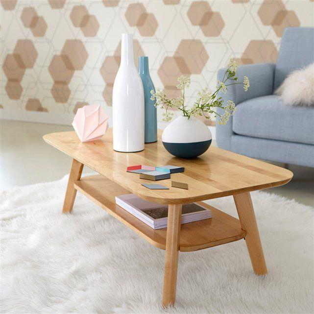 Table Basse 2 Plateaux Bouleau Massif Jimi La Redoute Interieurs Table De Salon Table Basse La Redoute Interieurs
