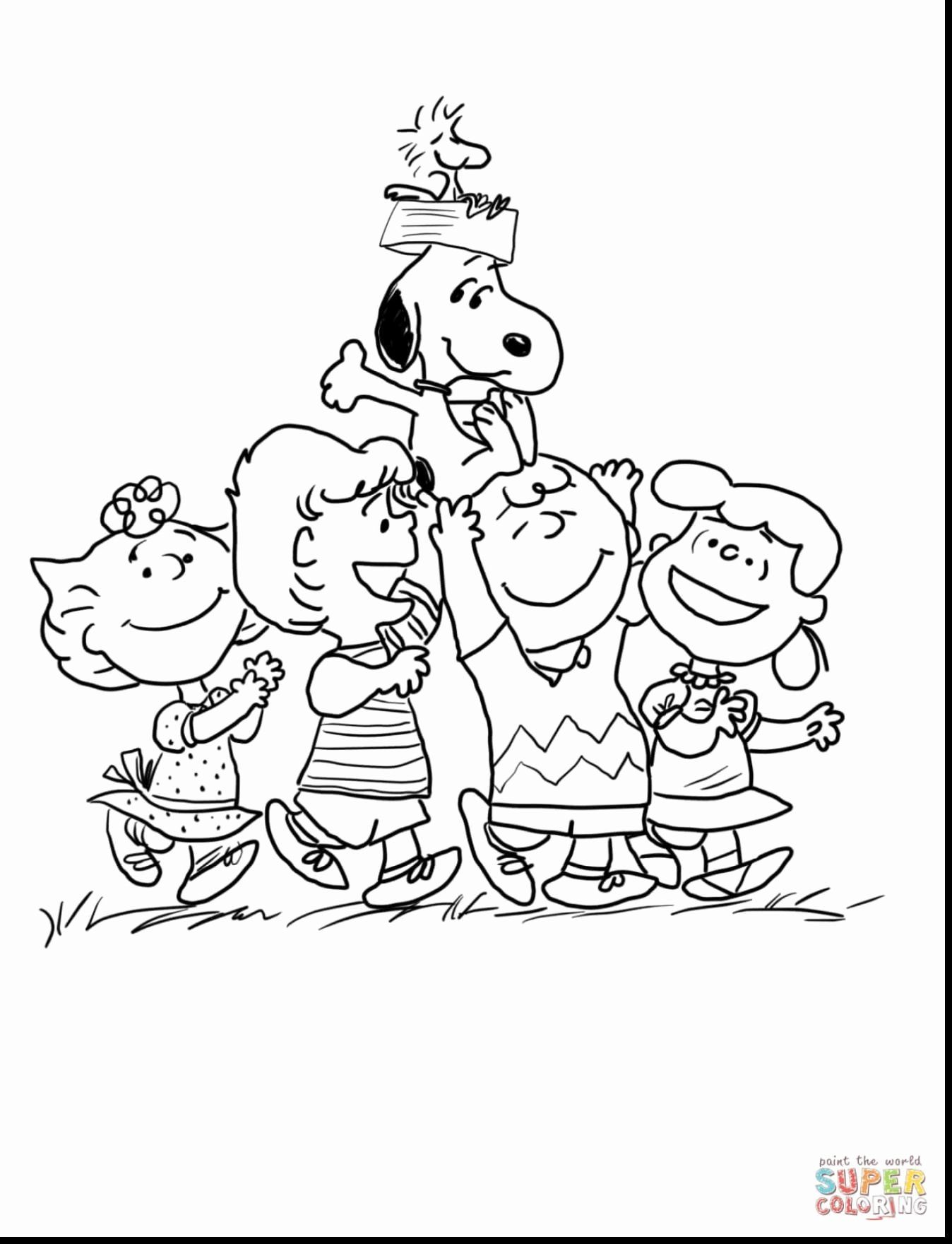 28 Charlie Brown Christmas Coloring Page in 2020