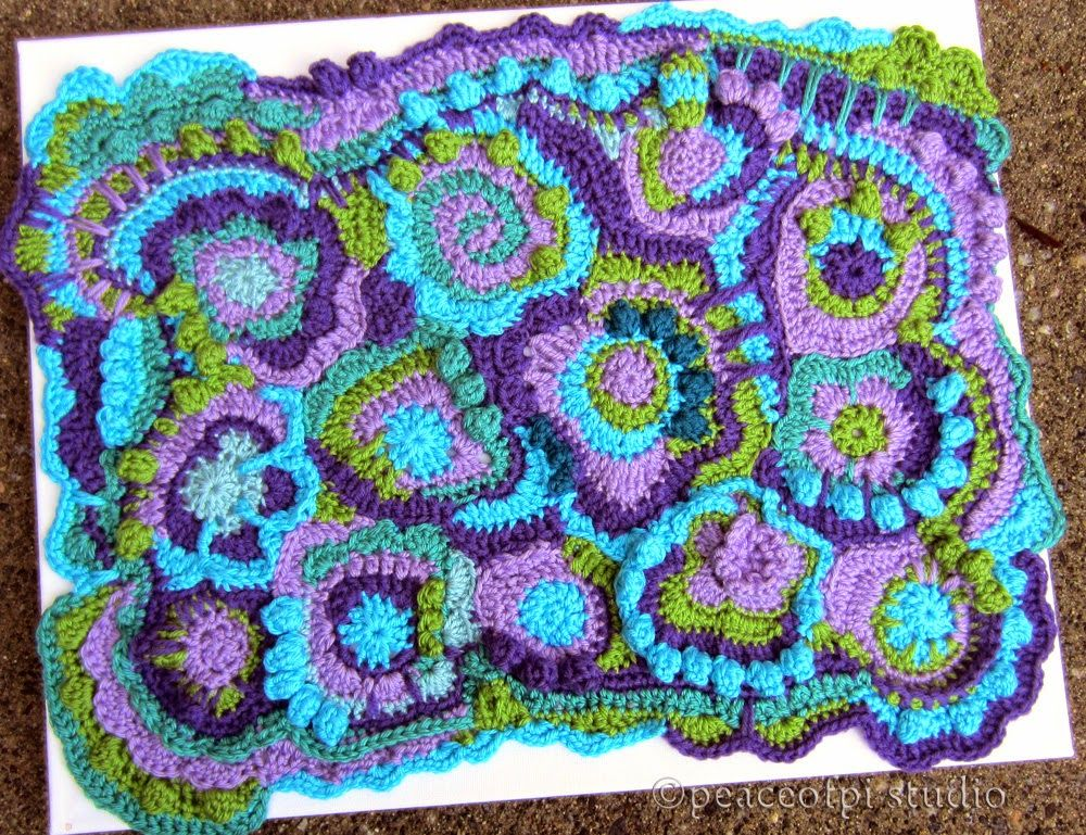 peaceofpi studio: Freeform Crochet Scrumble | Фриформ, Ирландское ...