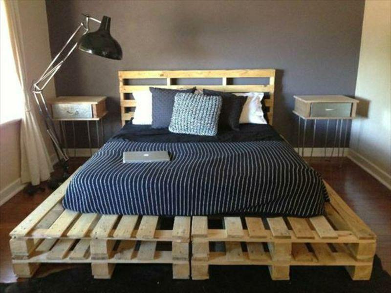 Europaletten- Bett ganz einfach selber bauen – ausführliche ...