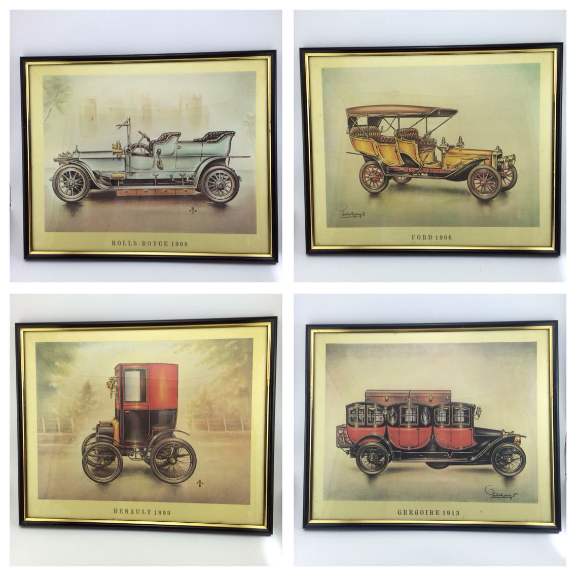 German Vintage Car Prints Amazing collection of 10/20 prints handed out as an incentive to buy fuel at their stations