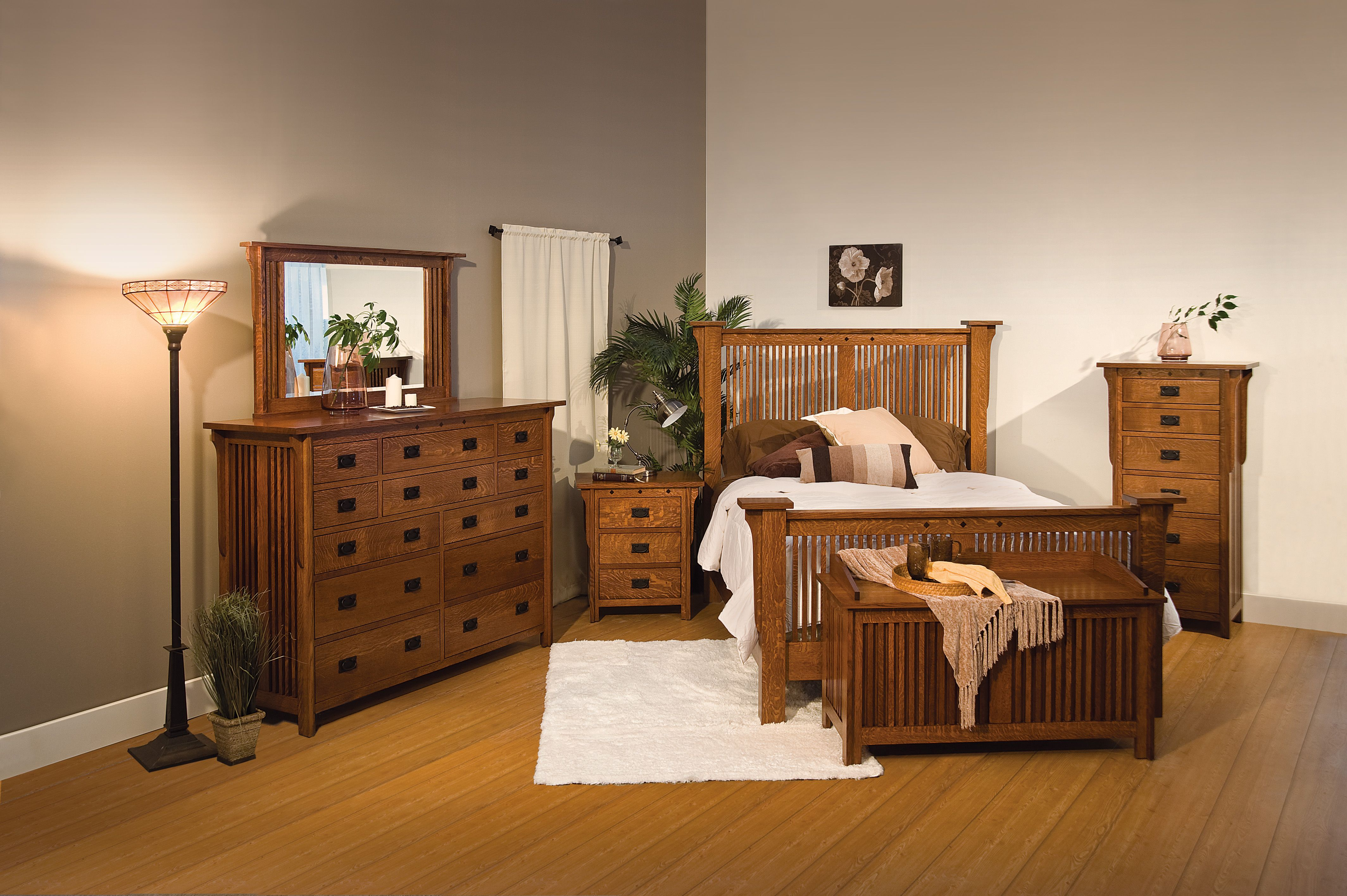 Royal Mission Collection w/ Royal Mission Bed: Dresser-RMD12, Mirror ...