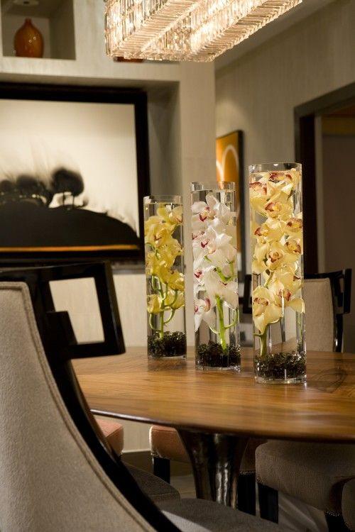 Contemporary Dining Room Dining Room Centerpiece Dining Room Table Centerpieces Dining Table Decor
