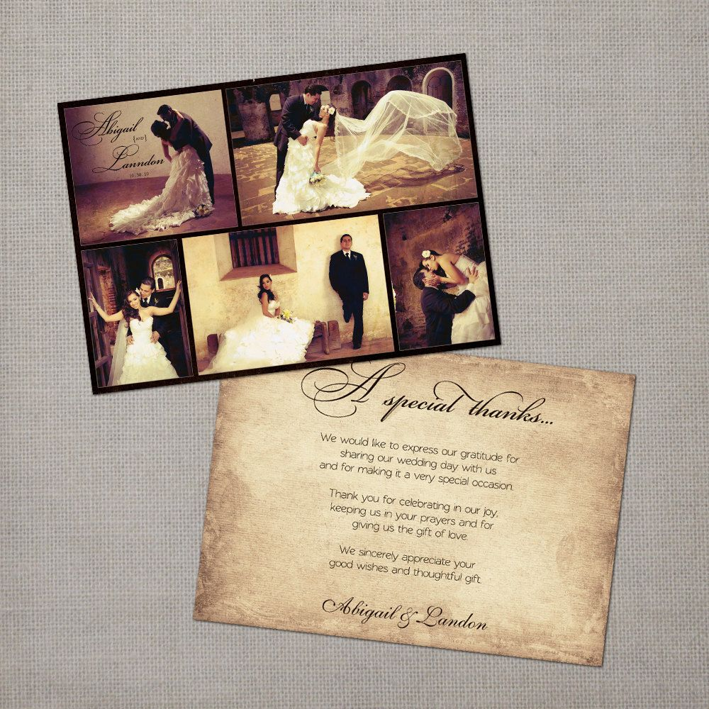 Items Similar To Vintage Wedding Thank You Cards Yous Card The Aail On Etsy