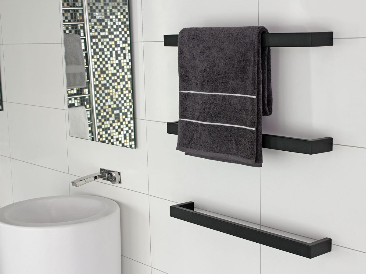 Small heated towel rails for bathrooms - Kado Quad Heated Towel Rail