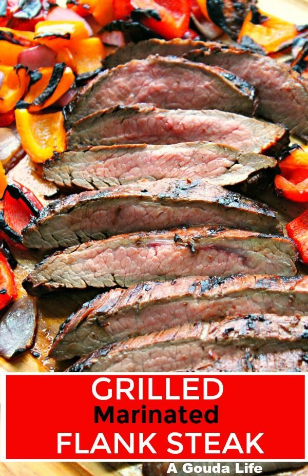 Grilled Marinated Flank Steak ~ tender, juicy and loaded with bold flavor. Grills in under 10 minutes!