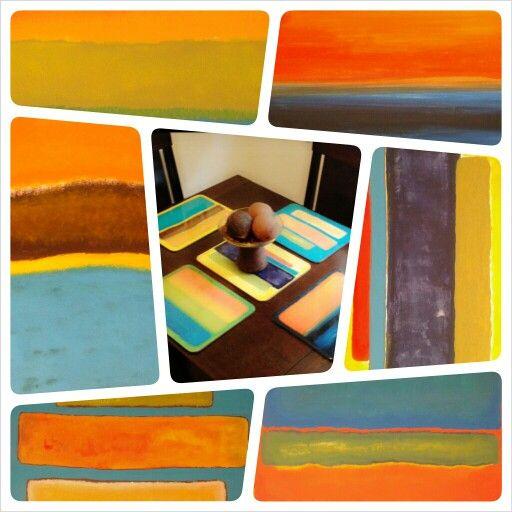 Juego de individuales para mesa en resina proyectos paint brushes sweet home painting - Individuales para mesa ...