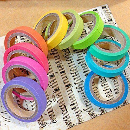 DIY Scrapbook Masking Tape Craft Stickers Art Adhesives Pack Decorative Label