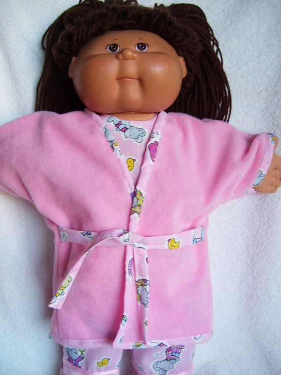 Cabbage Patch Doll Clothes Robe and Pajamas fits by Sewingkat2
