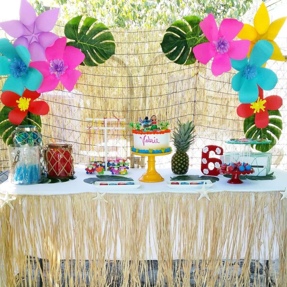 Lilo And Stich Birthday Party Ideas Hawaiian Luau Party Birthday