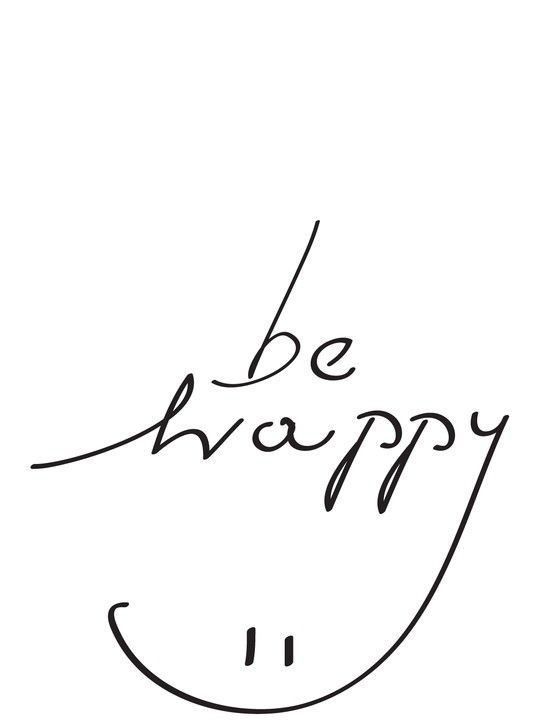 be happy typography poster