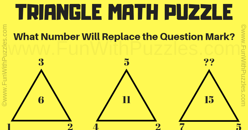 Triangle Math Puzzle For Kids With Answer Maths Puzzles Triangle Math Simple Math