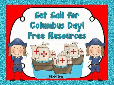 Lmn Tree Set Sail For Columbus Day Free Resources And Activities Kindergarten Social Studies Social Studies Elementary October Classroom