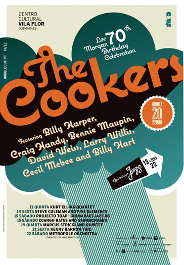 jazz 2008 the cookers poster by atelier martinoña